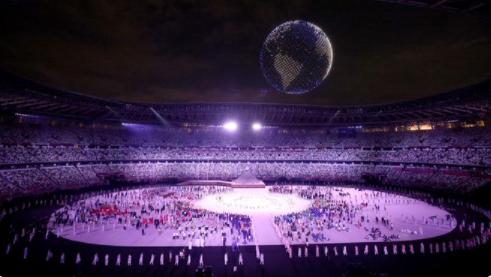 Най-голямото шоу с дронове на откриването на Олимпийските игри